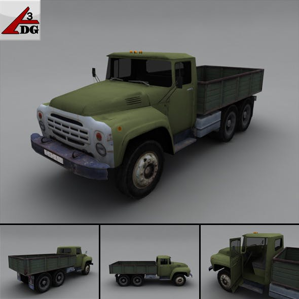 ZIL LowPoly - body chassis airborne