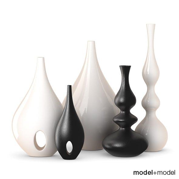 Rochebobois Minsk & Bulb vases