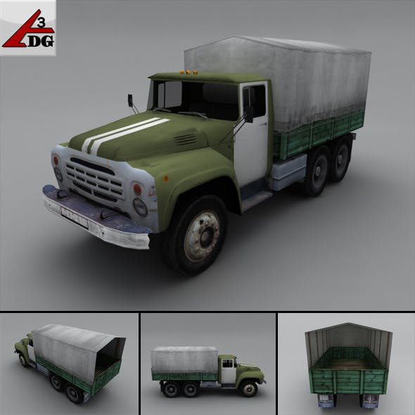 ZIL LowPoly - body chassis tarp - 3DOcean Item for Sale