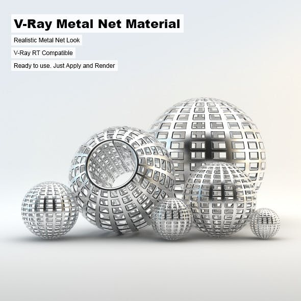 V-Ray Metal Net Material - 3DOcean Item for Sale