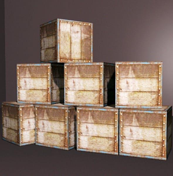 Old Wooden Box Set - 3DOcean Item for Sale