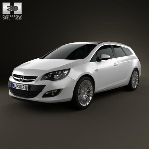 Opel Astra J sports tourer 2012 - 3DOcean Item for Sale