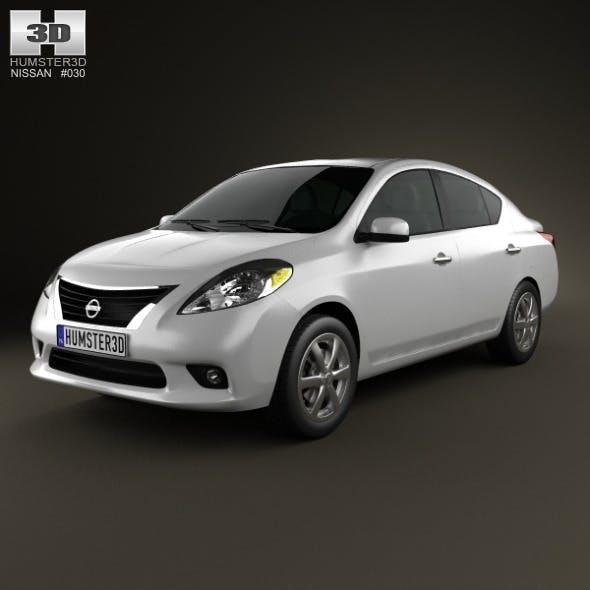 Nissan Versa (Tiida) sedan 2012 - 3DOcean Item for Sale