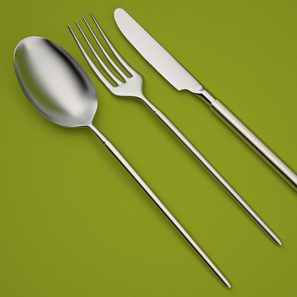 Modern Cutlery - 3DOcean Item for Sale