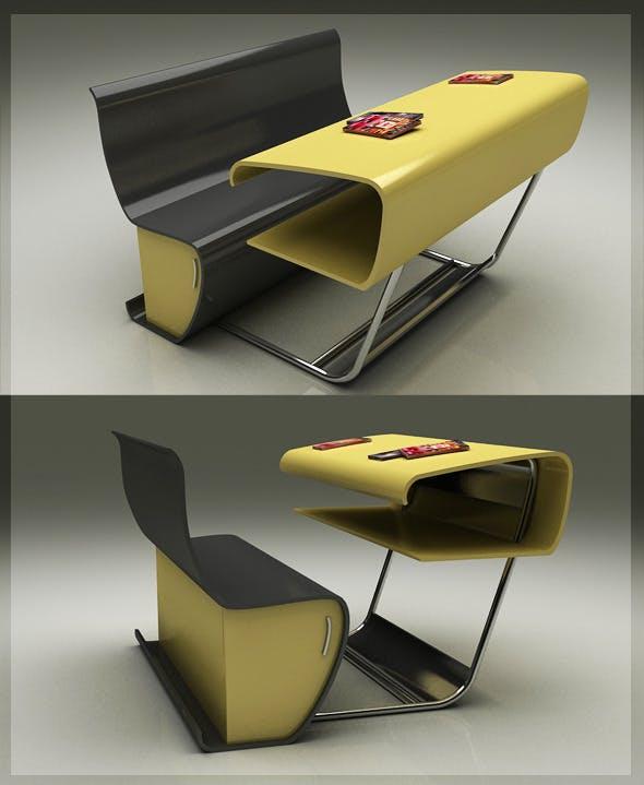 Modern 3D Chair & Table 8080 112 - 3DOcean Item for Sale