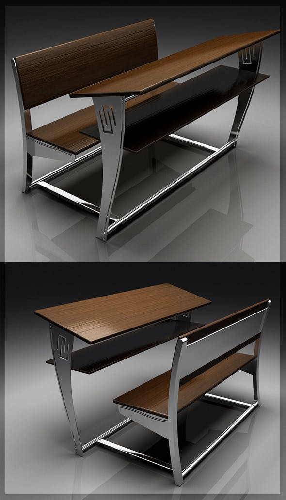 Classic 3D Chair & Table 8080 113 - 3DOcean Item for Sale