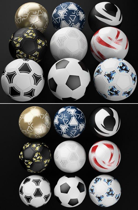 Football Soccer Ball Pack - 3DOcean Item for Sale