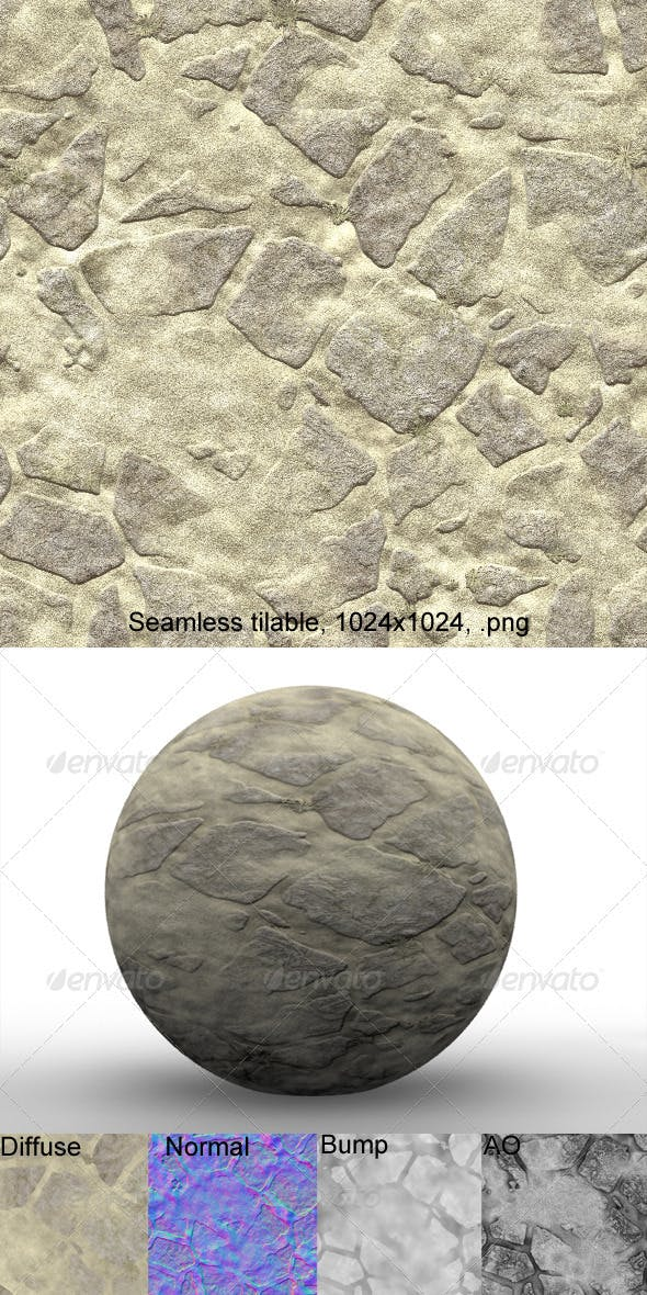Flagstone 3 - 3DOcean Item for Sale