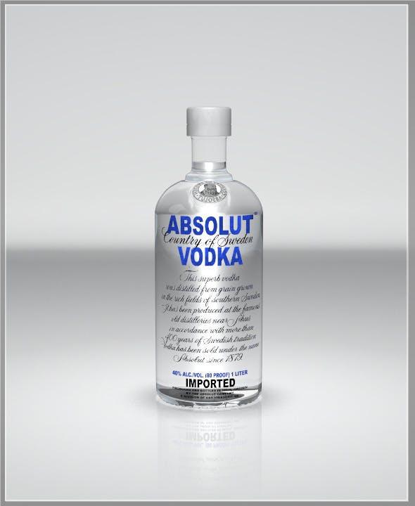 Realistic Vodka Bottle - 3DOcean Item for Sale