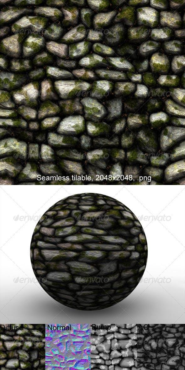 Boulder Wall 2 - 3DOcean Item for Sale