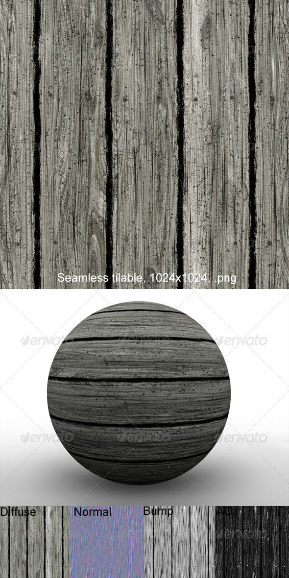 Rough Planks 1 - 3DOcean Item for Sale