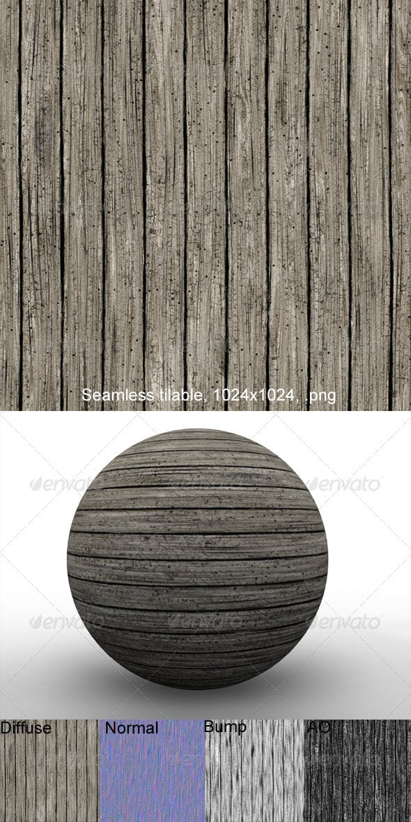 Rough Planks 3 - 3DOcean Item for Sale