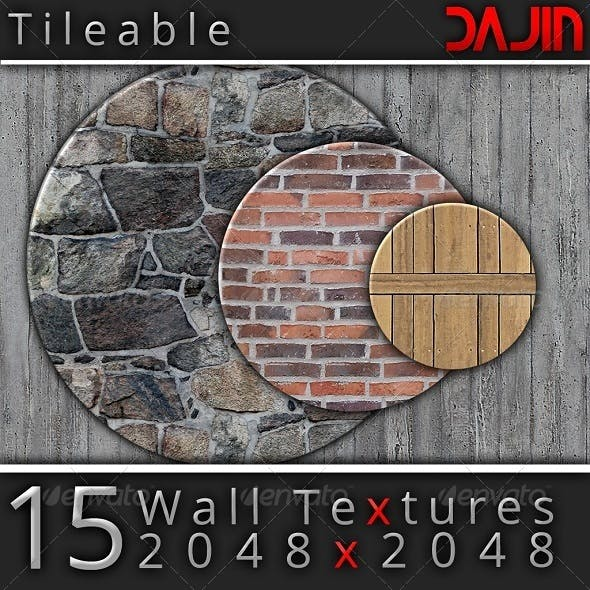 15 Tileable Hi-Res Wall Textures