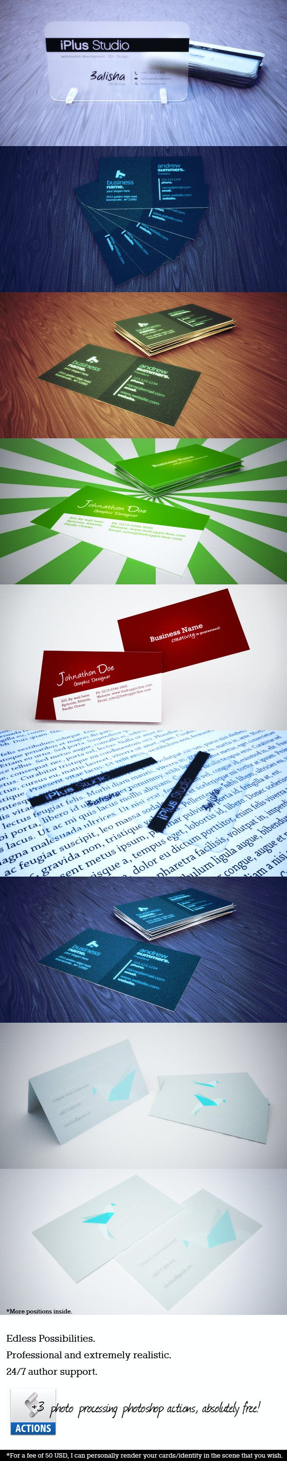 Ultimate Business Card Mock-Up Set - 3DOcean Item for Sale