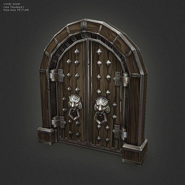 Low Poly Wood Door