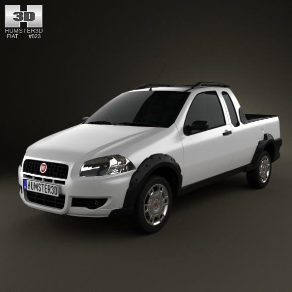 Fiat Strada Crew Cab Working 2012 - 3DOcean Item for Sale