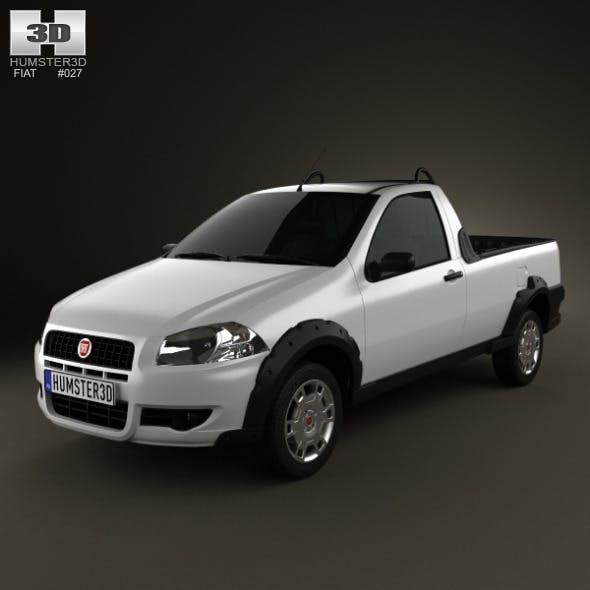 Fiat Strada Short Cab Working 2012 - 3DOcean Item for Sale