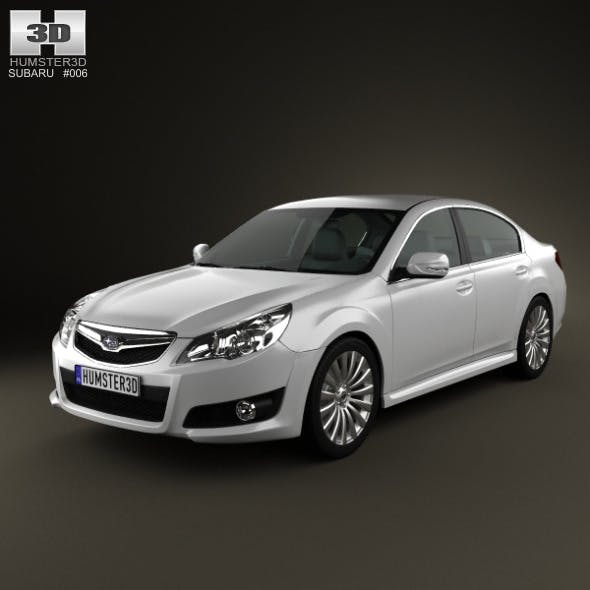 Subaru Legacy sedan 2010 - 3DOcean Item for Sale