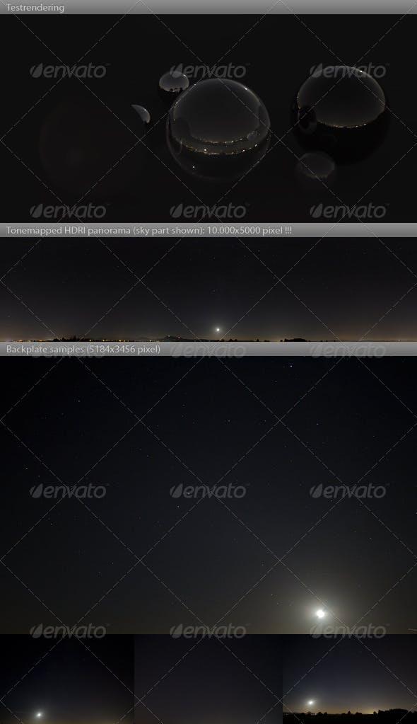 HDRI spherical sky panorama -2103- night & stars - 3DOcean Item for Sale