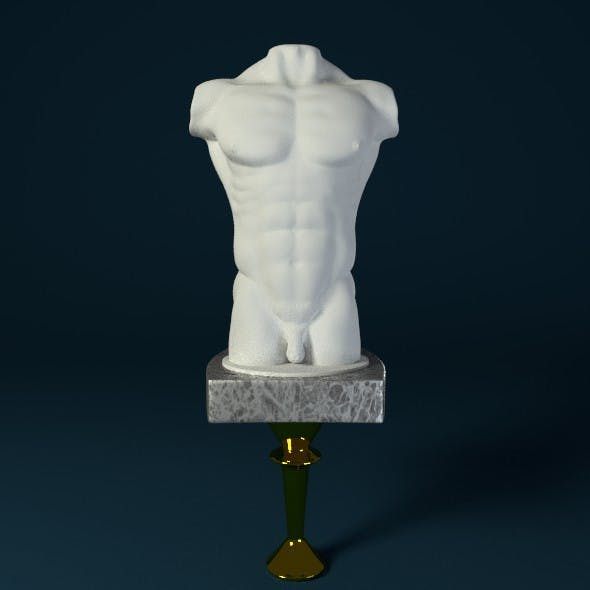 Male Body Sculpture - 3DOcean Item for Sale