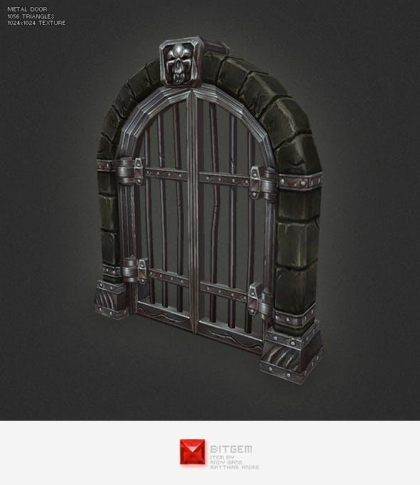 Low Poly Metal Door - 3DOcean Item for Sale