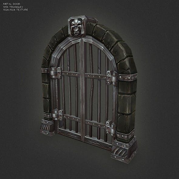 Low Poly Metal Door