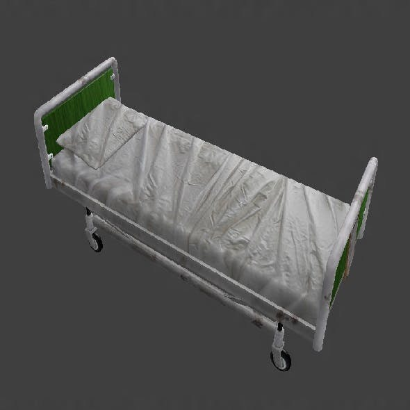 Low Poly Hospital Bed