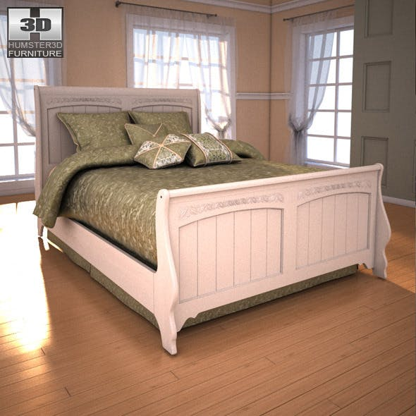 Ashley Cottage Retreat Full Sleigh Bed - 3DOcean Item for Sale