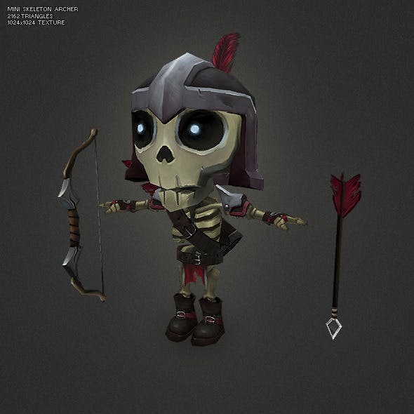Low Poly Mini Skeleton Tail