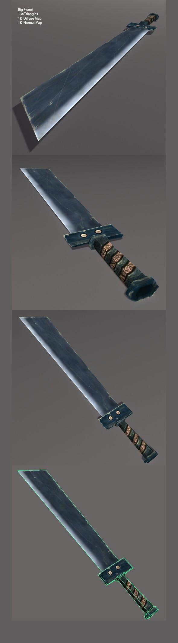 Low Poly Big Sword - 3DOcean Item for Sale