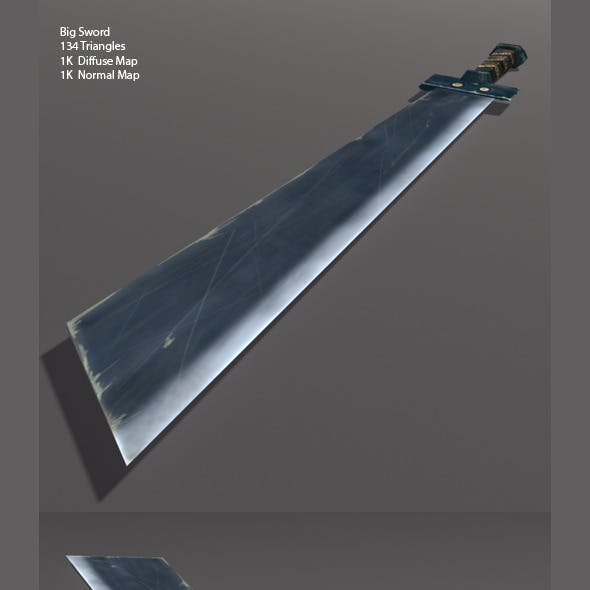 Low Poly Big Sword