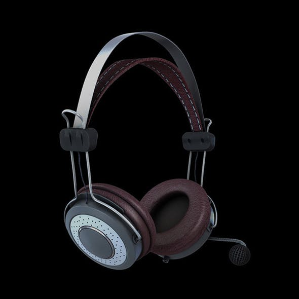 Realistic Headphones - High Poly