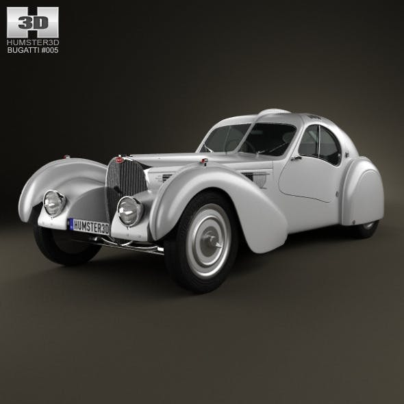 Bugatti Type 57SC Atlantic 1936 - 3DOcean Item for Sale