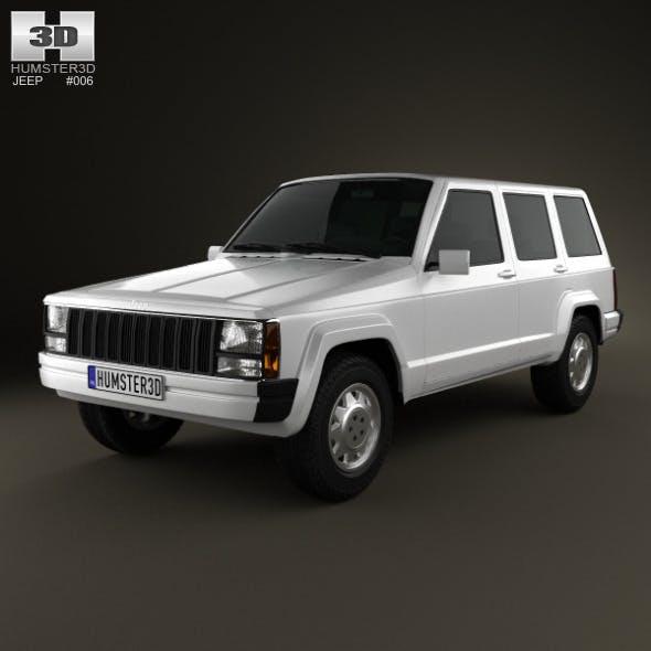 Jeep Cherokee XJ 4-door 2001 - 3DOcean Item for Sale