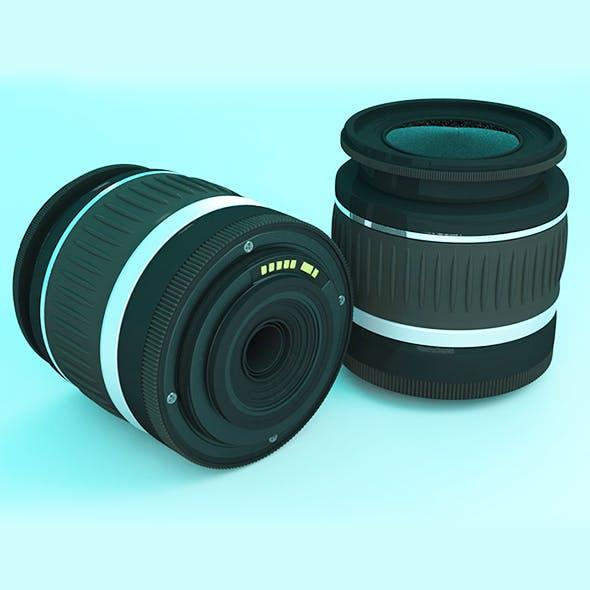 Reflex Lens 18-55mm Realistic - 3DOcean Item for Sale