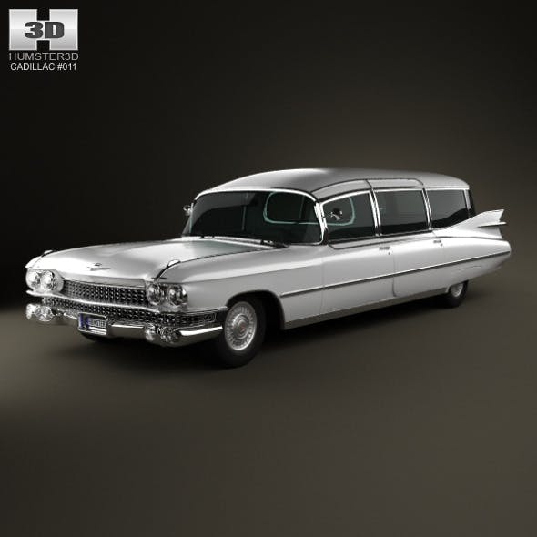 Cadillac Fleetwood 75 Miller-Meteor Hearse 1959 - 3DOcean Item for Sale