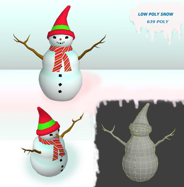 Snow low Poly - 3DOcean Item for Sale