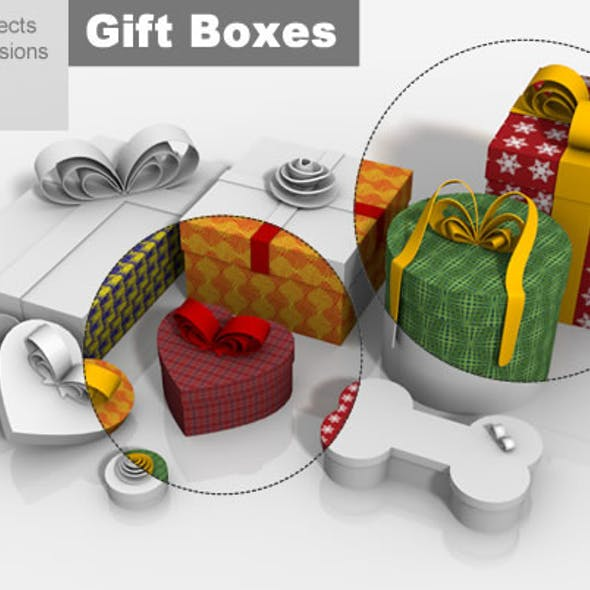 Gift Boxes Multi Shape Packages