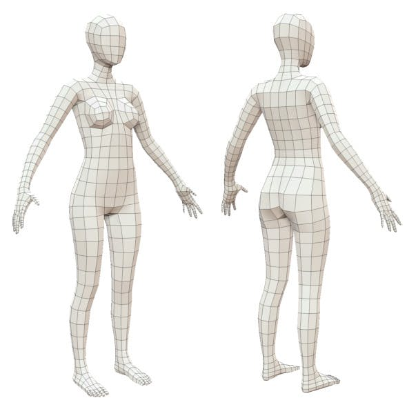 Realistic Adult Female Base Mesh