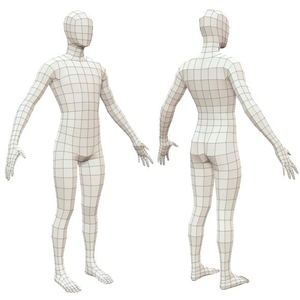 Realistic Adult Male Base Mesh - 3DOcean Item for Sale