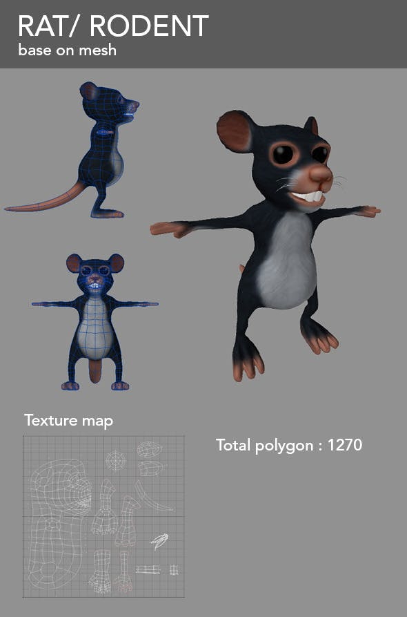 Rat - 3DOcean Item for Sale
