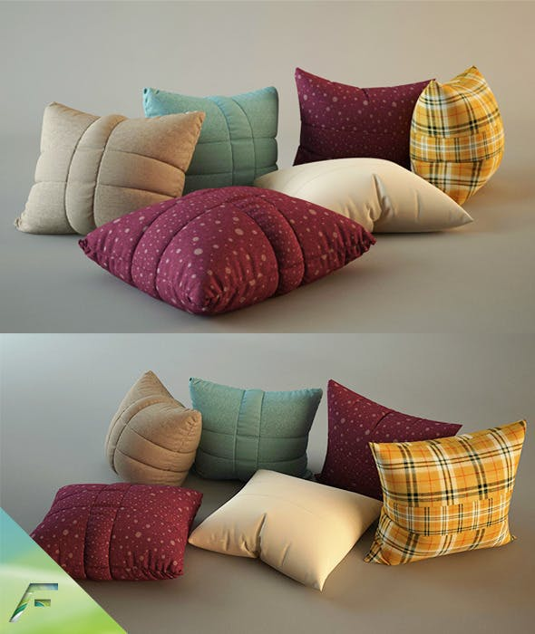 Pillows - realistic - 3DOcean Item for Sale