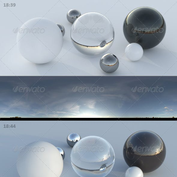3er HDRI sky pack 03 - sunny clouds evening