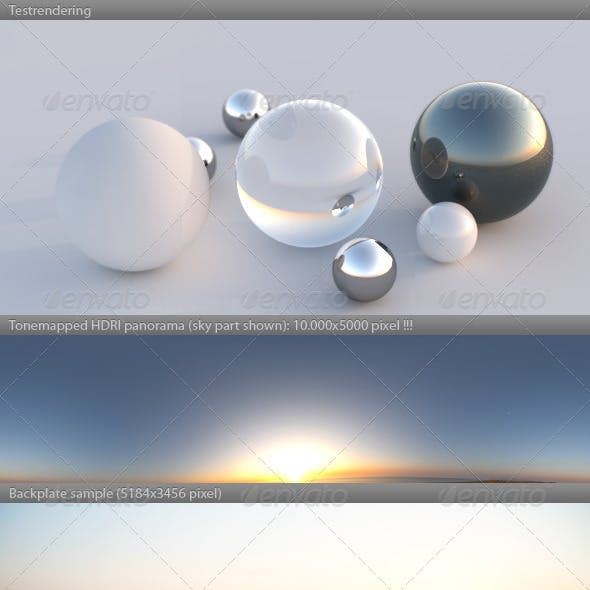 HDRI spherical panorama -0625- dawn sunrise