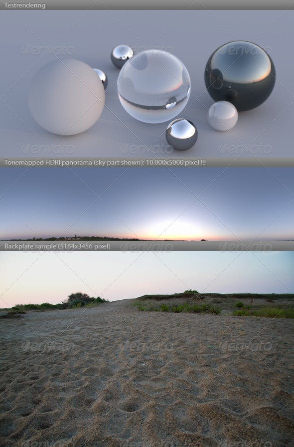 HDRI spherical panorama -0600- summer dawn sunrise - 3DOcean Item for Sale