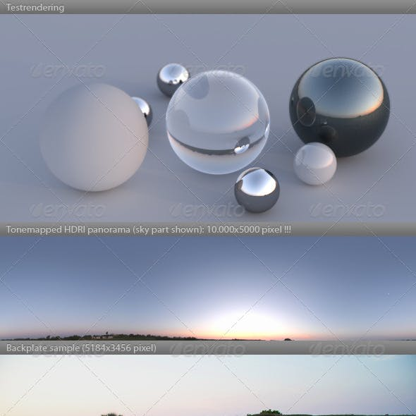 HDRI spherical panorama -0600- summer dawn sunrise