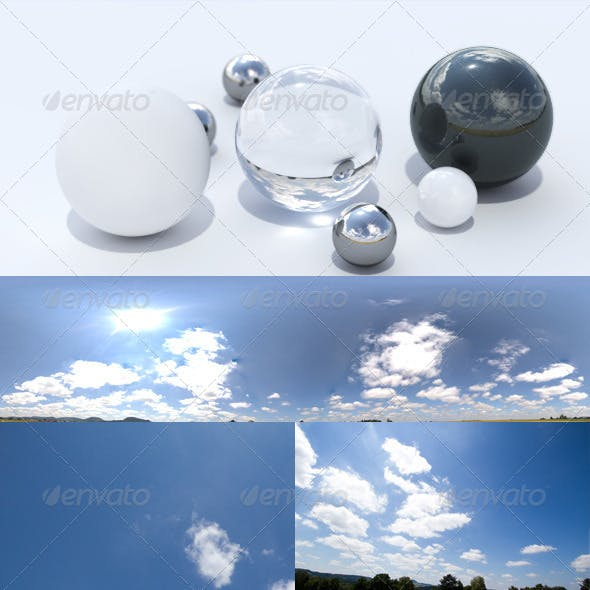 HDRI spherical panorama -1310- sunny sky / clouds