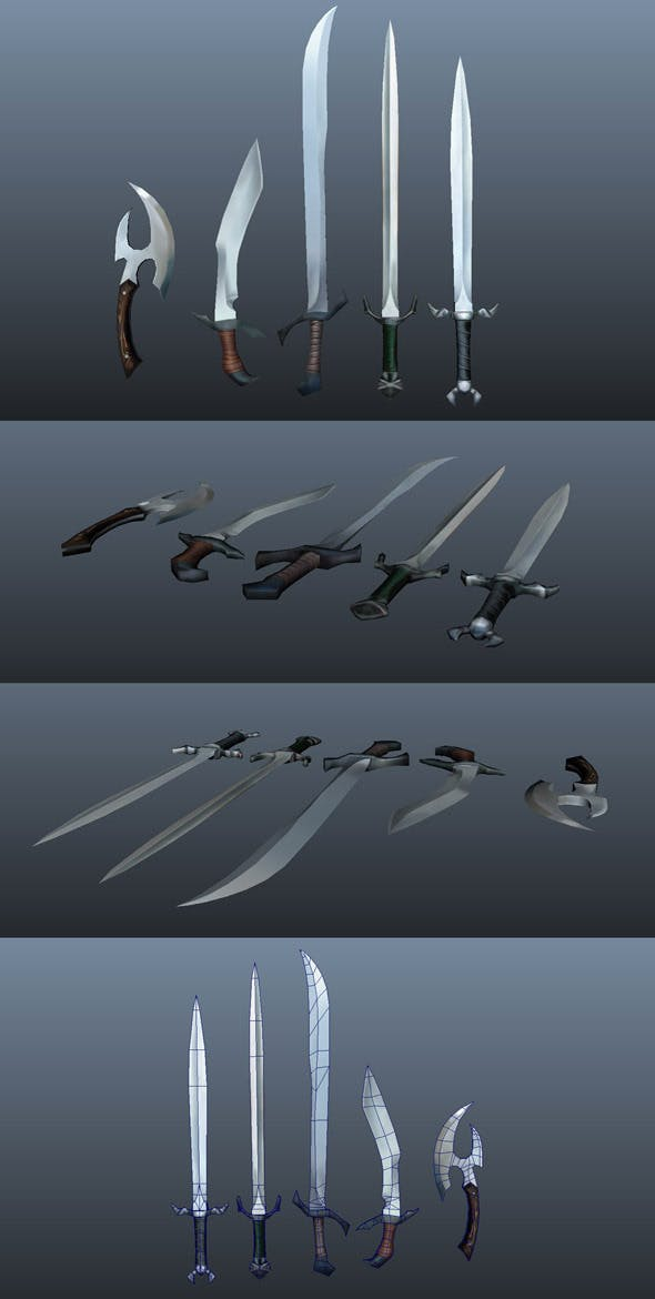Fantasy Weapons - 3DOcean Item for Sale