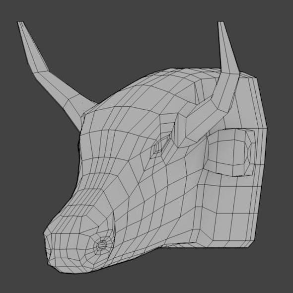 Bull Head Base Mesh