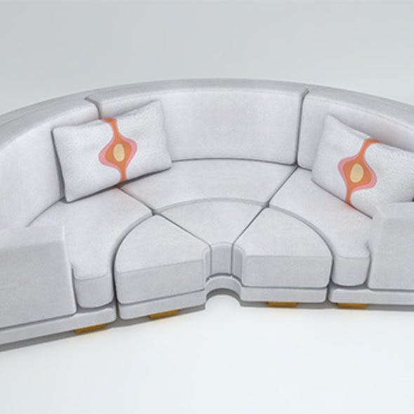 Circular Leather Sofa